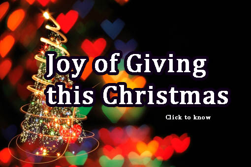 May I encourage you, to seek to find ways to give to those who can't give back, to learn to give simply for the joy of giving this christmas.